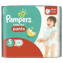 Baby Dry Pants -  Pack 24 Couches Pampers taille 5