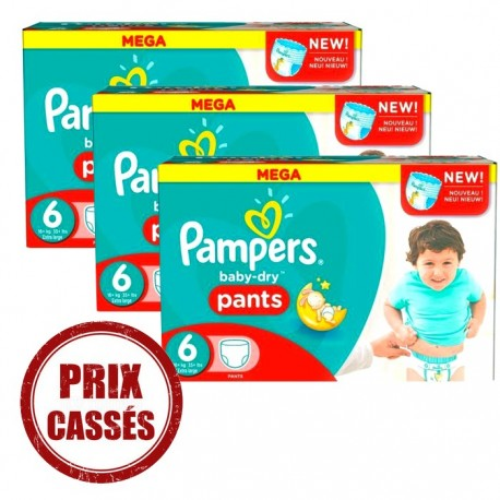 Baby Dry Pants - Maxi Giga Pack 105 Couches Pampers 6 sur Couches Zone