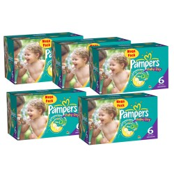 Baby Dry - Giga Pack 304 Couches Pampers taille 6+ sur Couches Zone