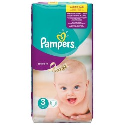 Active Fit - Pack de 62 Couches de Pampers taille 3