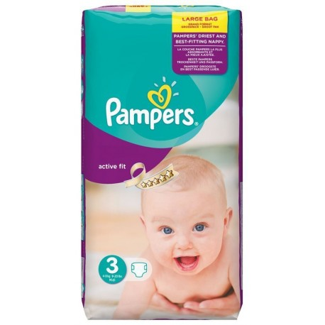 Active Fit - Pack de 62 Couches de Pampers taille 3 sur Couches Zone