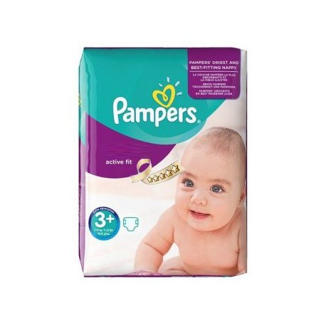 Active Fit - Pack de 70 Couches de Pampers taille 3+ sur Couches Zone
