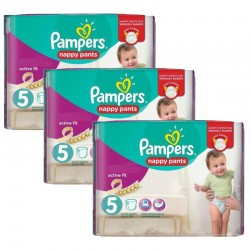 Pack 34 Couches Pampers Active Fit Pants taille 5