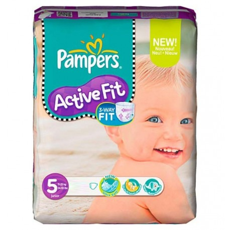 Active Fit - Pack 92 Couches de Pampers taille 5 sur Couches Zone