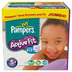 Active Fit - Pack 58 Couches Pampers taille 5+
