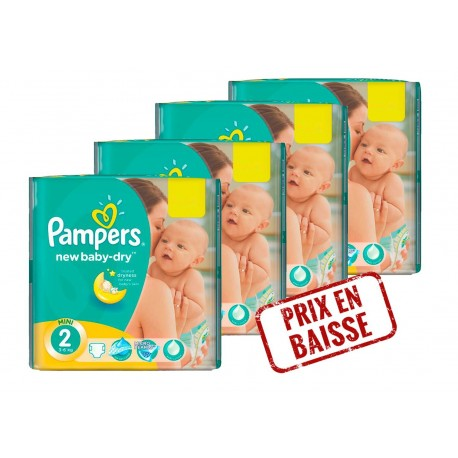 New Baby Dry - Pack économique 272 Couches Pampers 2 sur Couches Zone