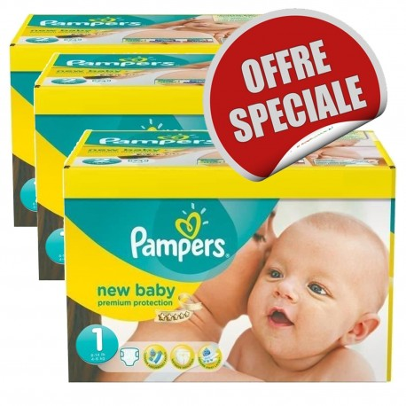 New Baby Dry - Maxi Mega pack 516 Couches Pampers taille 1 sur Couches Zone