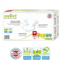 Pack 30 Couches bio écologiques Swilet Premium Protection taille 1