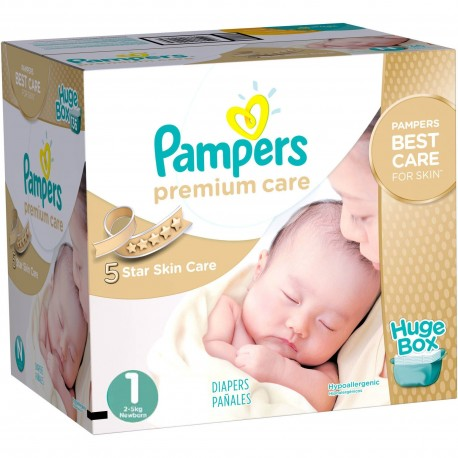 Premium Care - Giga pack 164 Couches Pampers taille 1 sur Couches Zone