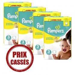 Premium Protection - Maxi pack 200 Couches Pampers taille 3
