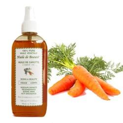 Huile de beauté à la Carotte 100% pure végétales sur Couches Zone