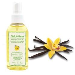 Huile de beauté à la vanille 100% pure et végétale sur Couches Zone