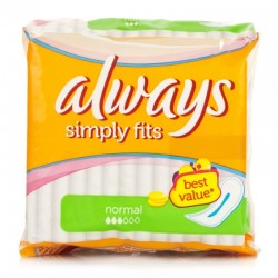 Ultra Simply Fits - Pack de 18 Serviettes hygiéniques Always taille Normal