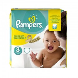 Pack 80 Couches Pampers Premium Protection - New Baby taille 3