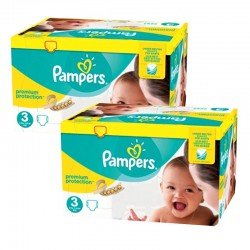 Maxi Giga Pack 400 Couches Pampers Premium Protection - New Baby taille 3