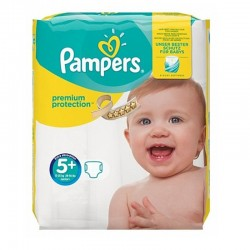 Pack 32 Couches Pampers New Baby Premium Protection taille 5+