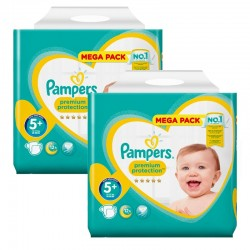 Giga Pack 256 Couches Pampers New Baby Premium Protection taille 5+