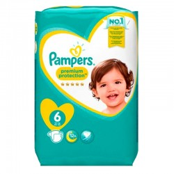 Pack 120 Couches Pampers Premium Protection - New Baby taille 6 sur Couches Zone