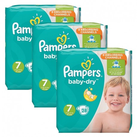 Mega Pack 84 Couches Pampers Baby Dry taille 7 sur Couches Zone
