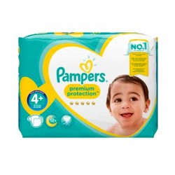 Pack 62 Couches Pampers Premium Protection - New Baby taille 4+