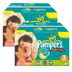 Baby Dry - Mega Pack Jumeaux 408 Couches Pampers taille 3 sur Couches Zone