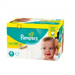Pack 64 Couches Pampers New Baby - Premium Protection taille 4 sur Couches Zone
