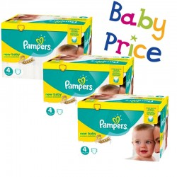 Giga Pack 320 Couches Pampers New Baby - Premium Protection taille 4 sur Couches Zone