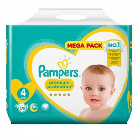 Pack 78 Couches Pampers New Baby - Premium Protection taille 4 sur Couches Zone