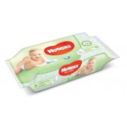 Pack 56 Lingettes Bébés Huggies Natural Care sur Couches Zone