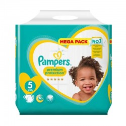 Pack 35 Couches Pampers New Baby taille 5 sur Couches Zone