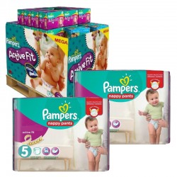 Pack Jumeaux 630 couches Pampers Active Fit Pants sur Couches Zone