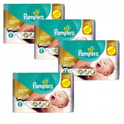 Giga Pack 266 Couches Pampers New Baby - Premium Care taille 2 sur Couches Zone