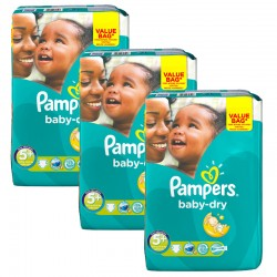 Giga Pack 168 Couches Pampers Baby Dry sur Couches Zone