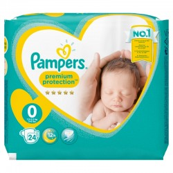 Pack 24 Couches Pampers New Baby Premium Protection taille 0 sur Couches Zone