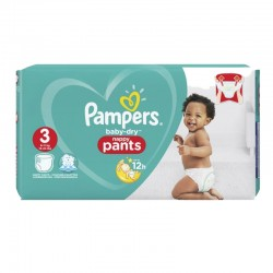 Pack 80 Couches Pampers Baby Dry Pants taille 3 sur Couches Zone