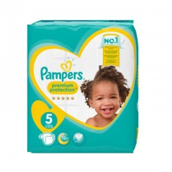 Pack 60 Couches Pampers New Baby taille 5 sur Couches Zone
