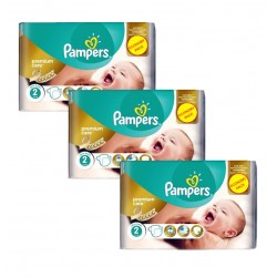 Giga Pack 190 Couches Pampers New Baby - Premium Care taille 2 sur Couches Zone