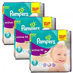 Giga Pack 141 Couches Pampers Active Fit taille 5