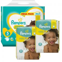 Maxi Giga Pack 315 couches Pampers New Baby Premium Protection sur Couches Zone