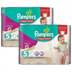 Maxi Pack 180 Couches Pampers Active Fit - Pants taille 5 sur Couches Zone
