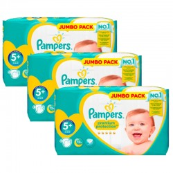 Maxi Pack 135 Couches Pampers New Baby - Premium Protection taille 5+