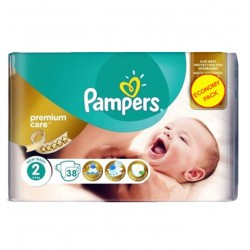Pack 38 Couches Pampers New Baby - Premium Care taille 2 sur Couches Zone