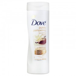 Lait Corps Dove Purely Pampering Shea Butter & Warm Vanilla sur Couches Zone