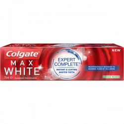 Dentifrice Colgate Max White Expert Complete Mild Mint sur Couches Zone