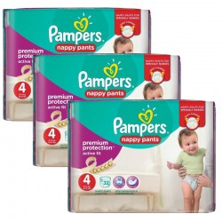 Giga Pack 128 Couches Pampers Active Fit - Pants taille 4 sur Couches Zone