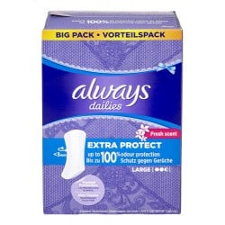 Always Extra Protect Protege Slips 52 pc. Large sur Couches Zone