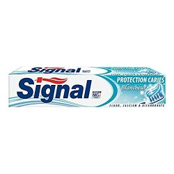 Dentifrice Signal Protection Caries Blancheur sur Couches Zone