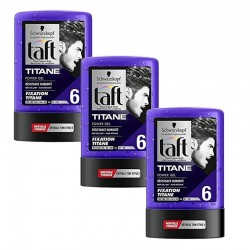 Lot de 3 Taft Gel 300 ml Titane N°6 Tube sur Couches Zone