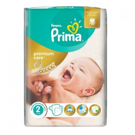 Pack 22 Couches Pampers Premium Care - Prima taille 2 sur Couches Zone
