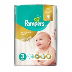 Pack 20 Couches Pampers Premium Care Prima taille 3 sur Couches Zone